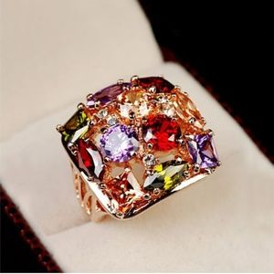 Luxury Multicolor Gorgeous Cocktail Ring size 7